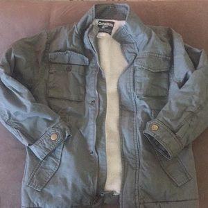 NWT OshKosh B'gosg sherpa lined green jacket